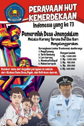 Serba serbi perayaan HUT kemerdekan Republik Indonesia Pemerintah Desa Jinengdalem
