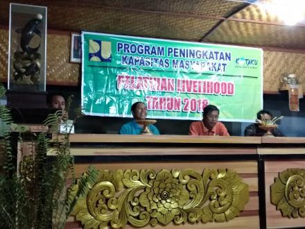Pelatihan LIVELIHOOD Tahun 2018 Program Peningkatan Kapasitas Masyarakat