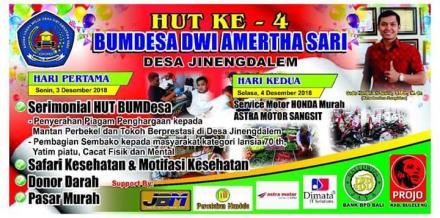 Hut ke 4 Bumdesa Dwi Amertha Sari